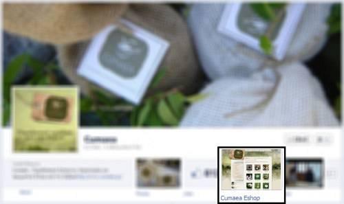 Cumaea Facebook eshop tab