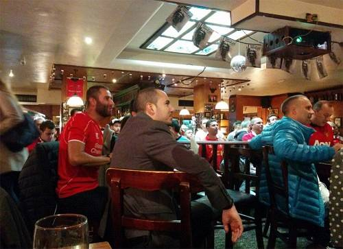 Liverpool fans at Sofia