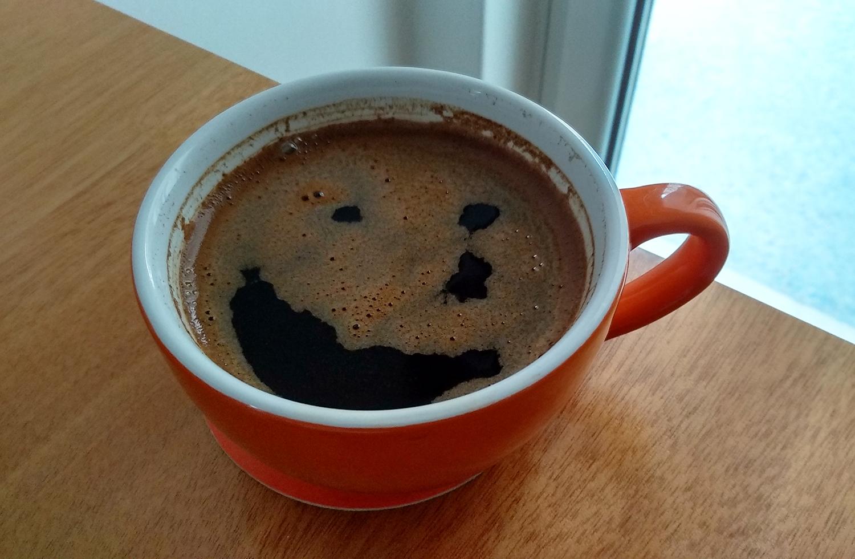 Καφές χαμόγελο δάκρυ