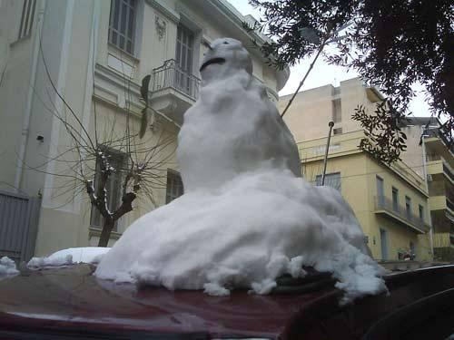 Ο χιονάνθρωπός μου!